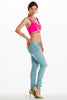 (alh) Strappy cropped hot pink top - L.A. Roxx - 2