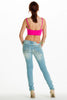 (alh) Strappy cropped hot pink top - L.A. Roxx - 3
