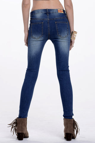 (alq) Super stretch skinny classic medium wash jeans