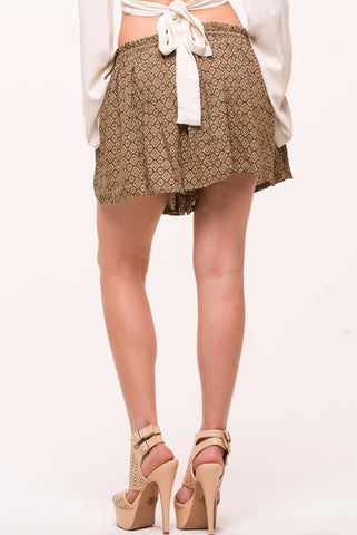 (alo) Native print bohemian shorts