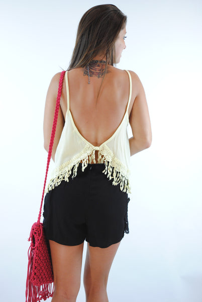 (ans) Crochet trimming banana top - L.A. Roxx - 3
