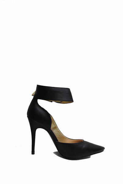 (aml) Ankle buckle point black pumps - L.A. Roxx - 3