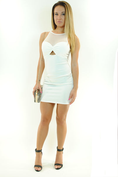 (ant) Sexy candy mesh ivory dress - L.A. Roxx - 2