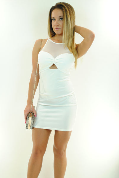 (ant) Sexy candy mesh ivory dress - L.A. Roxx - 1