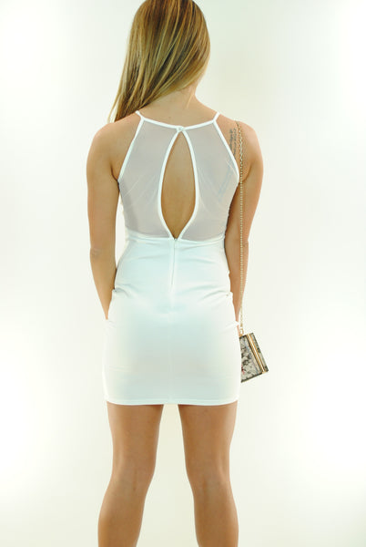 (ant) Sexy candy mesh ivory dress - L.A. Roxx - 3