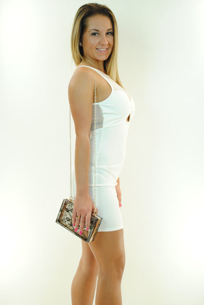 (ant) Sexy candy mesh ivory dress - L.A. Roxx - 4