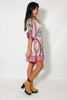 (alz) Kimono sleeves boho chic flare dress - L.A. Roxx - 2