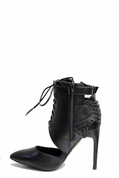 (ame) Laced up moto pumps - L.A. Roxx - 2