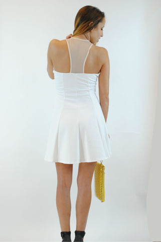 (anp) Dangerous sweetheart bodycon ivory dress