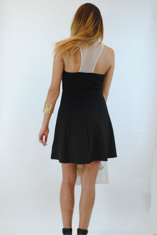 (anp) Dangerous sweetheart bodycon black dress