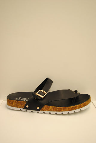 (ams) Briki 1 black slip on thong sandals