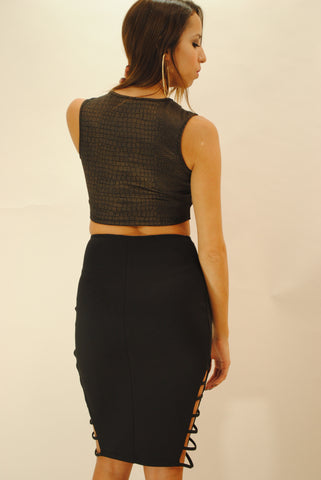 Cut out pattern cropped top