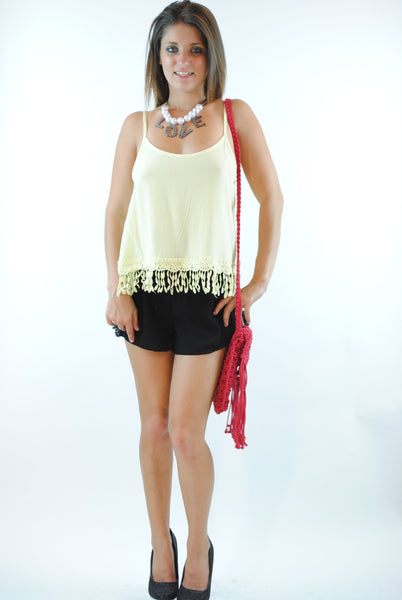 (ans) Crochet trimming banana top - L.A. Roxx - 2