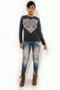 (alu) I broke my rules for you sweat shirt - L.A. Roxx - 1