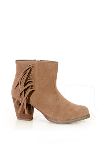 (alx) Jenny fringe brown booties