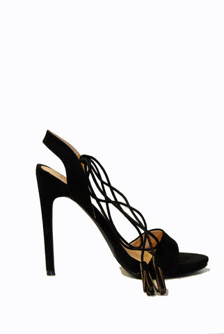 (alt) Laced up toe strap black heels