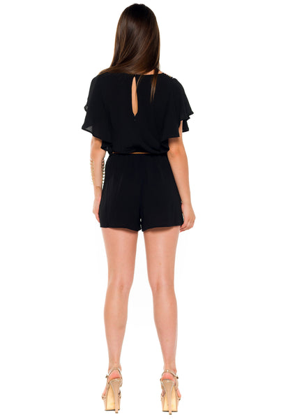 (alb) Embroidered belted romper -Black- - L.A. Roxx - 4