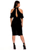 (aky) Off the shoulder cut out bodysuit -Black- - L.A. Roxx - 4
