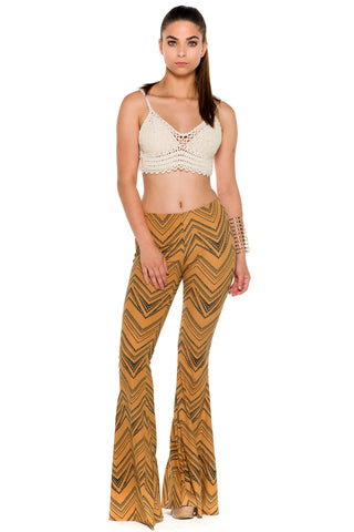 (alc) Crochet tank cropped top -Beige-