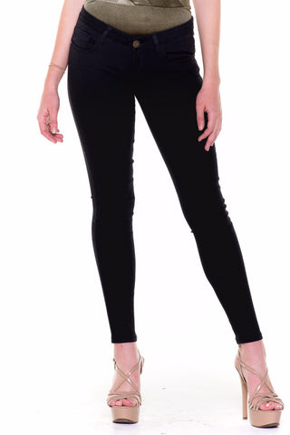 (akv) Superstretch Machine brand Skinny jeans -Black-