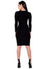(akx) Long sleeves caged details silhouette dress -Black- - L.A. Roxx - 4