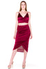 (akv) Gathered on side skirt set -Burgundy- - L.A. Roxx - 3