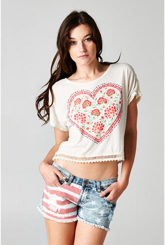 (ani) Hearth of rose vintage tee