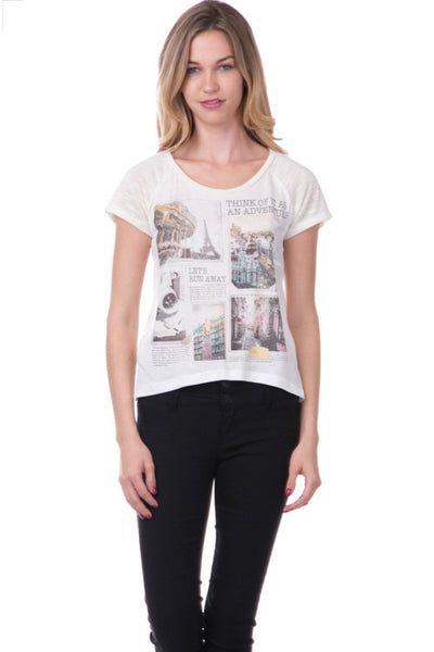 (amt) Think of it as an adventure retro graphic tee - L.A. Roxx - 1