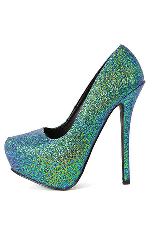 (anm) Teal multi met sky pump