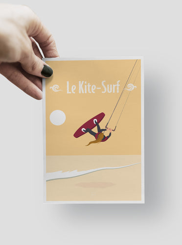Carte Postale - Le Kite-Surf