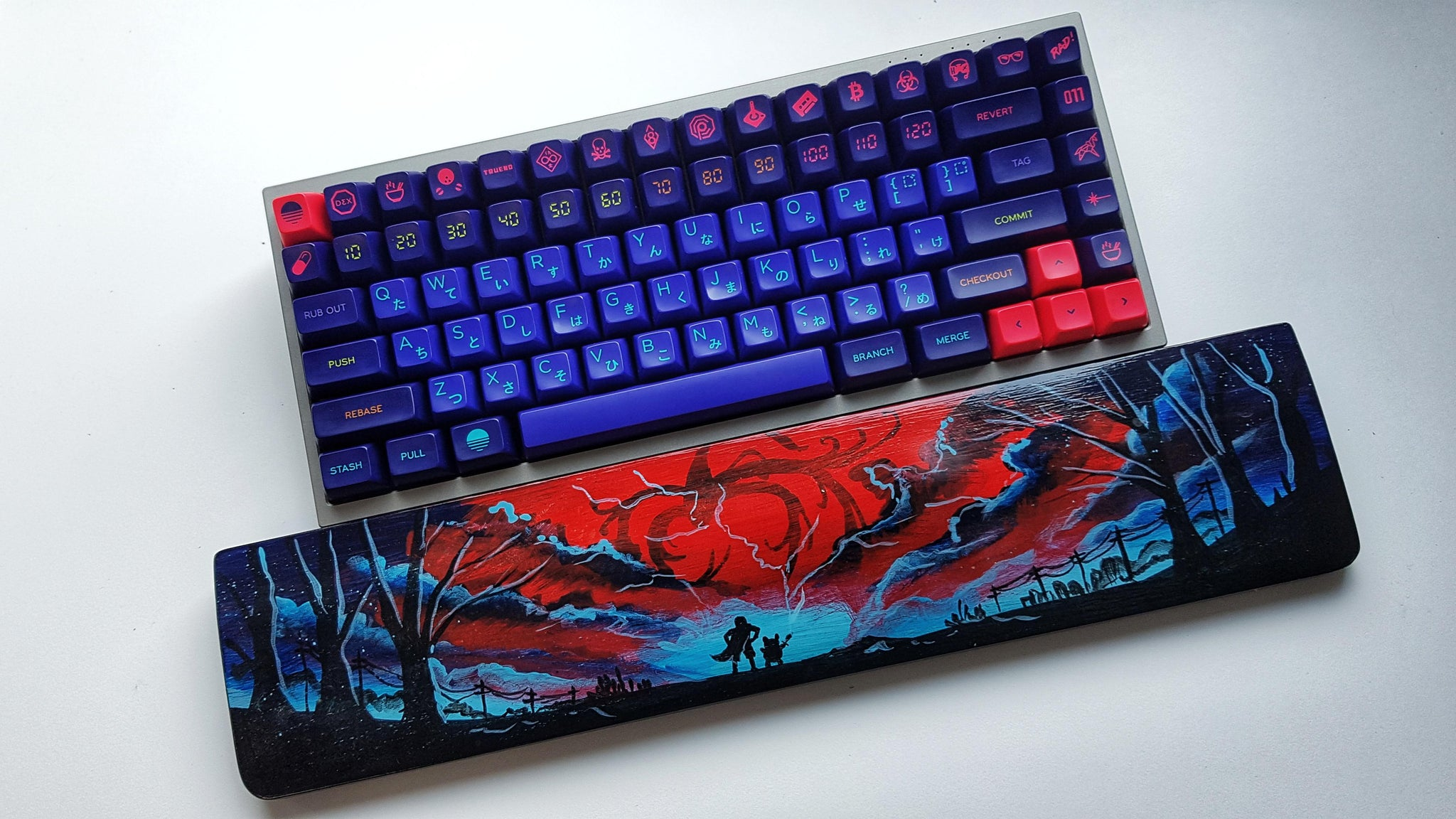 SA laser and Brave wristrest