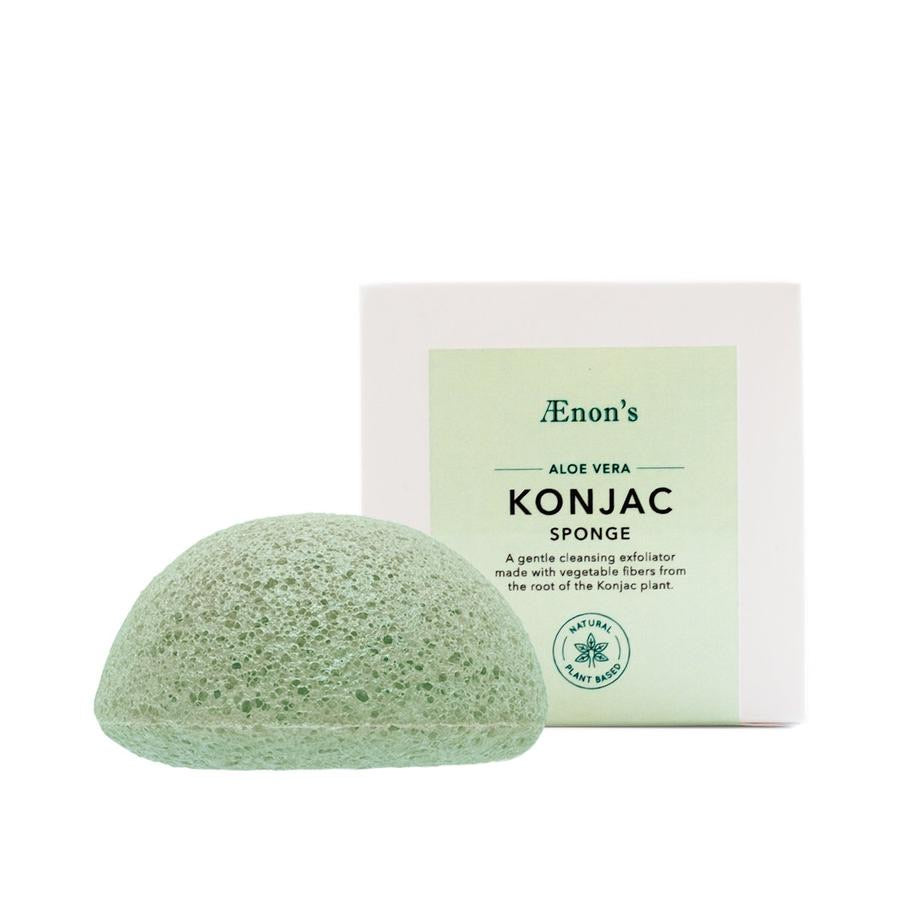 Aenon's Konjac Cleansing Sponge with Aloe Vera - Farewell Frances
