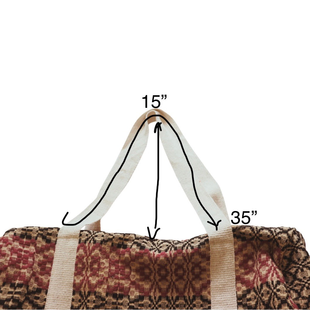 Wool Coverlet Duffle Bag CD1-CD8