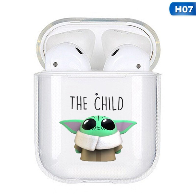Baby Yoda Clear Acrylic Airpods Case Shock Proof Cover Magmadon