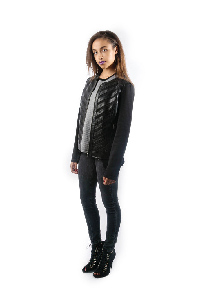 Piece of Me PU Faux Jacket