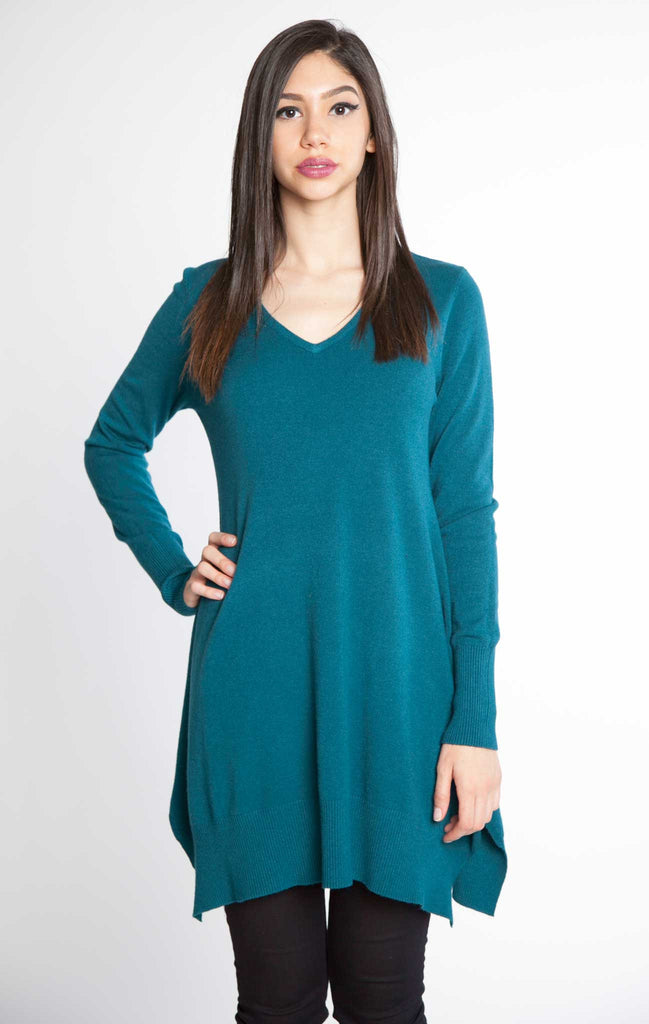 FS6840S-TEAL-BLUE-VNECK-FAUX--CASHEMERE--TUNIC-TOP--PATRIZIALUCA-PATRIZIALUCA-PATRIZIA-LUCA-SWEATER-(1)