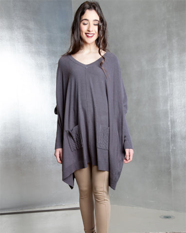 V Neck Double Pocket Tunic