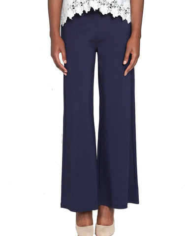 Ponte Pull On Wide Leg Pant
