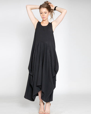 The Over-sized Pinstripe Dress