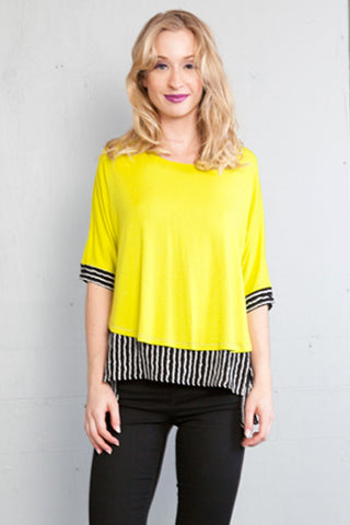 Color Pop Stripe Elbow Sleeve Work It Top