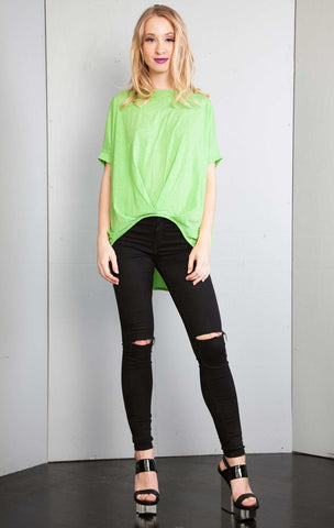 High Low Over Sized Tshirt Top