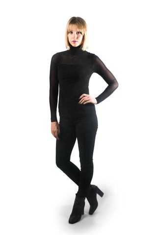 Double Layered Mesh Turtleneck