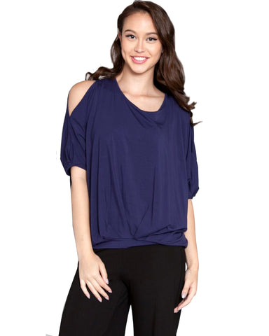 Split Cold Shoulder Tshirt Top