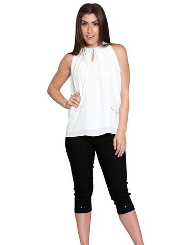 Two Way Wear Chiffon Drapper Sleeveless Top