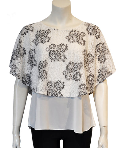Printed Caplet Top