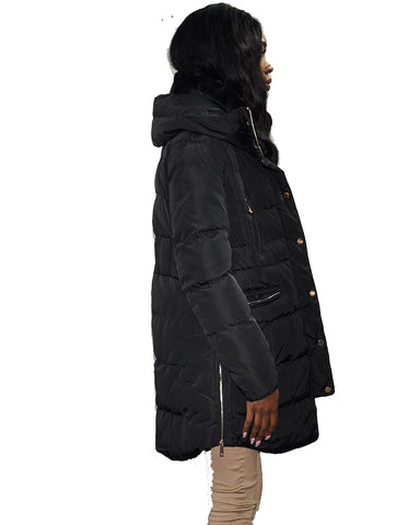 Zip Detail Puffer Jacket