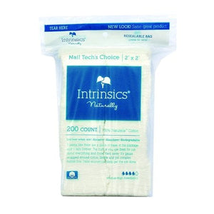 "Intrinsics Nail Tech's Choice 2""x 2"", Cotton Filled Gauze"