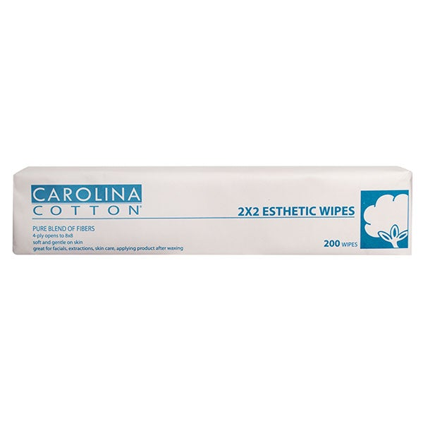 "Carolina Cotton Esthetic Wipes 2"" x 2"" (200 Count)"