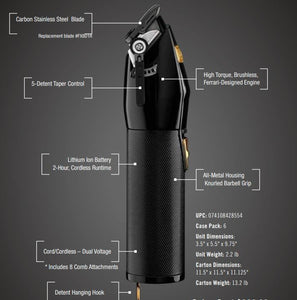 BaByliss Black FX Clipper Black and Gold Limited Edition