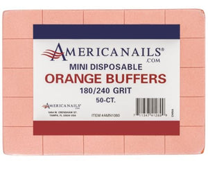 American Nails Mini Disposable Buffers 50 count 180/240 Grit